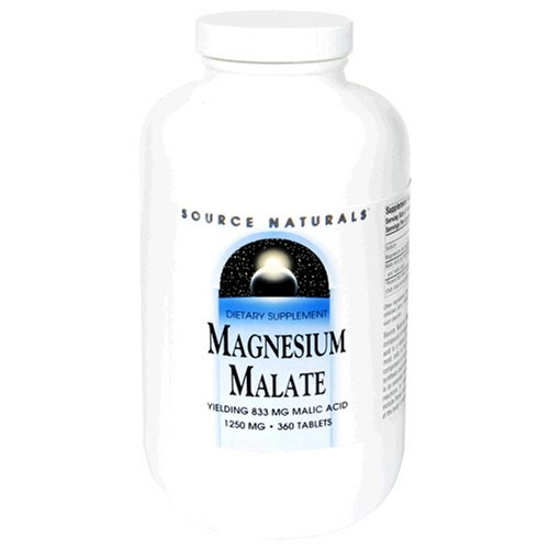 Source Naturals Magnesium Malate 1250mg, 360 Tablets