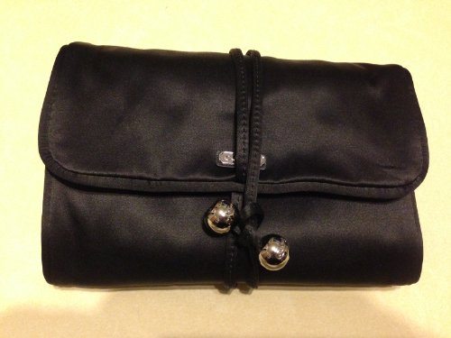 Coach   Coach Occasion Black Luxury Satin Jewelry Roll Travel Case 66561