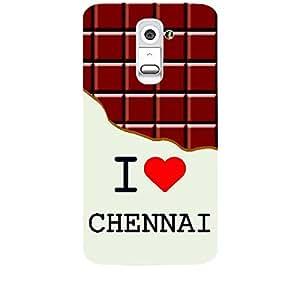 Skin4gadgets I love Chennai - Chocolate Pattern Phone Skin for LG G2