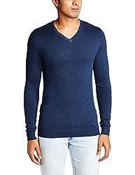 Celio Men's Synthetic Sweater (3596654271813_DEGIVREINDIGO_42_Indigo)