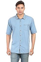 Max Exports Men's True Blue Denim Shirts XXL only (Denim Blue, xx)