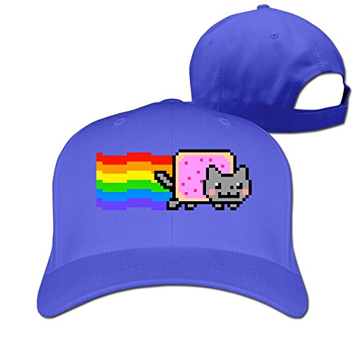 XJBD Unisex-Adult Nyan Cat Rainbow Png Fishing Caps Hat RoyalBlue (Nyan Cat Merchandise compare prices)