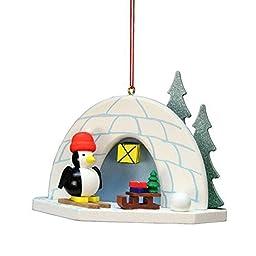 10-0584 - Christian Ulbricht Ornament - Igloo Penguin - 2.75\