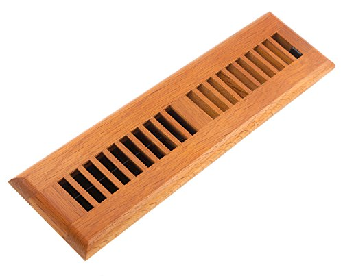 Accord AOFROML212 Floor Register Oak Louvered, 2-Inch x 12-Inch(Duct Opening Measurements), Medium Finish (12x2 Register Box compare prices)