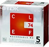 TDK MD CLEF 74分5枚パック MD-CL74X5N