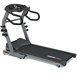 Maxima Fitness MF-2000-ProFX-B Auto Incline Folding Home Use Treadmill - Grey/Black, Medium