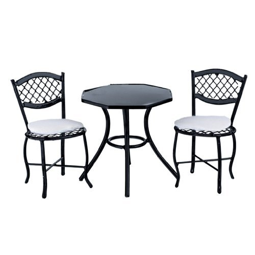 Dollhouse Miniature Three Piece Carlsbad Patio Set - 1