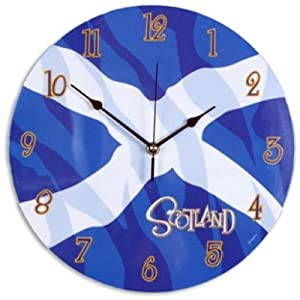 St Andrews Cross flag design 30.5cm wall clock