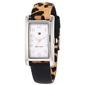 Tommy Hilfiger Women's 1781111 Black and Leopard Reversible Watch