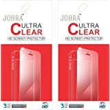 Johra Pack Of 2 Clear HD Screen Scratch Protector For Karbonn Titanium S200 HD