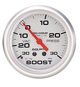Auto Meter 4303 Ultra-Lite Mechanical Boost/Vacuum Gauge back-51288