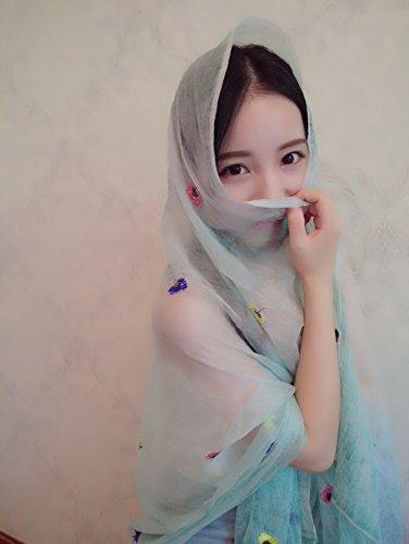 FEI&S Corea aria condizionata in primavera e in autunno bandana Sciarpa Sciarpa per mantenere in caldo scialli sciarpe, verde
