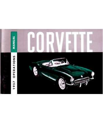 1957 CHEVROLET CORVETTE Owners Manual User Guide