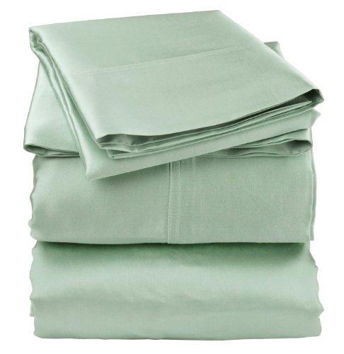 Green Satin Sheets front-120267