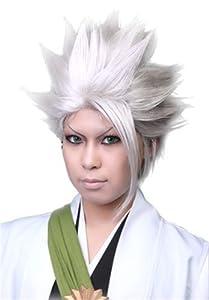 L-email Hitsugaya Toushirou Bleach/white Medium 25cm Cosplay Wig Rw55