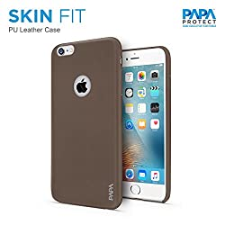 Papa Protect iPhone 6S Skin Fit Case | PU Leather | Impact Resistance | Elegant Look