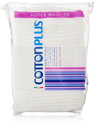 Cotton Plus - Super Maxi, Ideale per la Pulizia del Viso - 50 pezzi