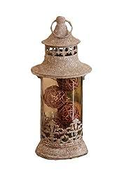 Your Hearts Delight Rustic Renaissance Fleur De Lis Lantern, 11-1/2 by 4-1/2-Inch