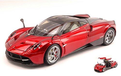 pagani-huayra-2012-metallic-red-gt-edition-118-welly-auto-stradali-modello-modellino-die-cast