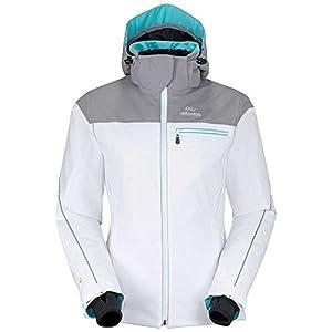 Eider Damen Skijacke Saas Fee Jacket, White/Light Heather, 38, EIV2737