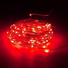 10M 100 LED Silver Wire Waterproof Fairy String Light Xmas Lamp With Adapter-Red