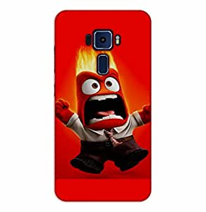 Happoz ASUS Zenfone 3 Deluxe (ZS570KL) Cases Back Cover Mobile Pouches Shell Hard Plastic Graphic Armour Premium Printed Designer Cartoon Girl 3D Funky Fancy Slim Graffiti Imported Cute Colurful Stylish Boys D073