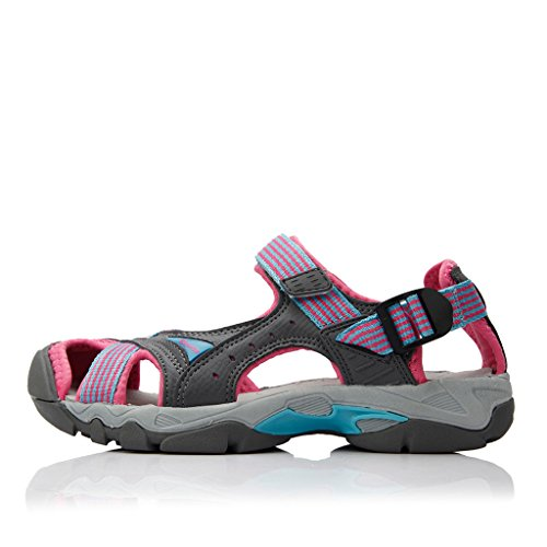Clorts Women's Lightweight Athletic Sandal Outdoor Seaside Water Sneaker Rose SD-202C US8.5