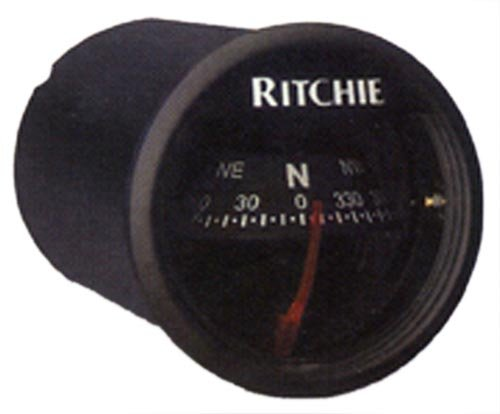X-21BB Ritchie Navigation 2-Inch Dial Sport Compass with Dash Mount (Black)