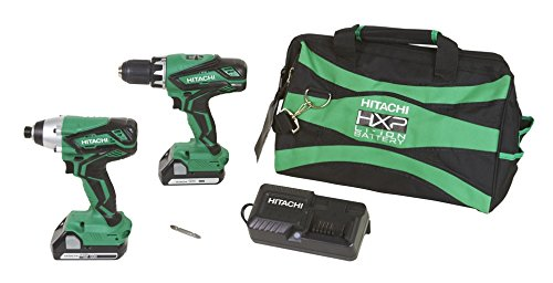 Cheapest Prices! Hitachi KC18DGL 18V Lithium Ion Driver Drill and Impact Driver Combo Kit