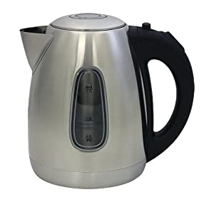 10 Cup 1.7 Liter Venice Stainless Steel Cordless Electric Kettle by ZUCCOR (BOIL-DRY... by ZUCCOR