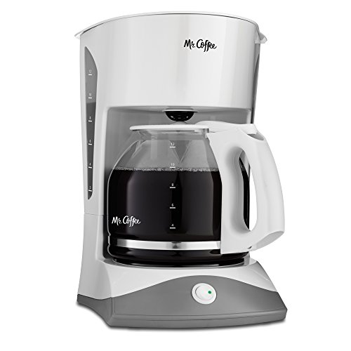 Mr. Coffee SK12 12-Cup Manual Coffeemaker, White