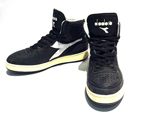 Sneaker Diadora Heritage MI Basket 84 Used Nero-Bianco 158569 (EU 42.5)