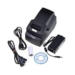BestDealUSA Mini 58MM POS 384 Line Thermal Dot Receipt Printer Set Black