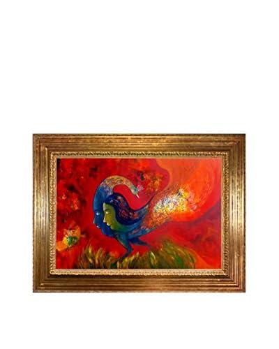 Sanjay Punekar Love  Framed Canvas Print