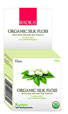 RADIUS Natural Biodegradable Round Silk Floss, 33 Yrd