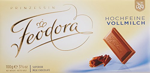 Feodora Milk Chocolate Bar, 3.5 Ounce (Pack of 10)