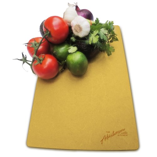 Cutting Board - Kitchen & Knife Friendly- Usa Made - Dishwasher Safe - From Recyled Wood - More Durable Than Bamboo Maple Or Poly - Ideal Eco Friendly Gift For Housewarming Wedding Or Birthday (15In X 10In X .25In) Free Silicone Feet & Recipes Included