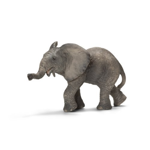 Schleich African Elephant Calf Toy Figure by Schleich TOY (English Manual)