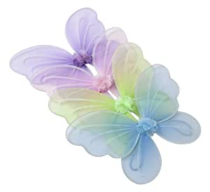Amazon.com: 4 Colors Fairy Butterfly Wings Set Party Favor
