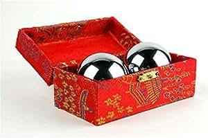 Baoding Balls Chinese Health Exercise Stress Balls Chrome Color