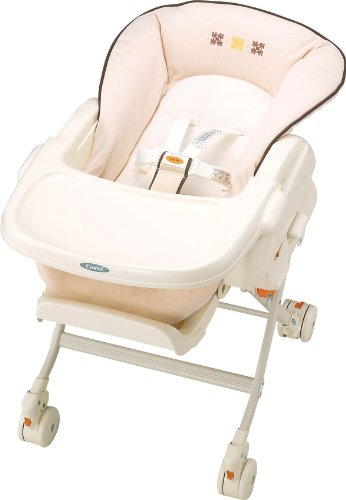 コンビ Combi ハイローベットチェアー レミニス S ピュアベージュ (新生児~4歳頃対象) ステップ連動リクライニング
