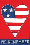 American Heart Patriotic Garden Flag Applique We Remember 12.5