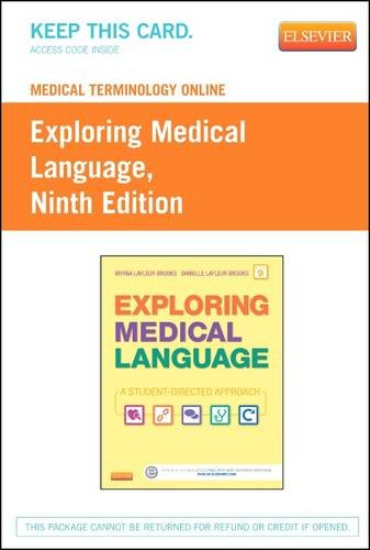 Medical Terminology Online for Exploring Medical Language (Access Card), 9e