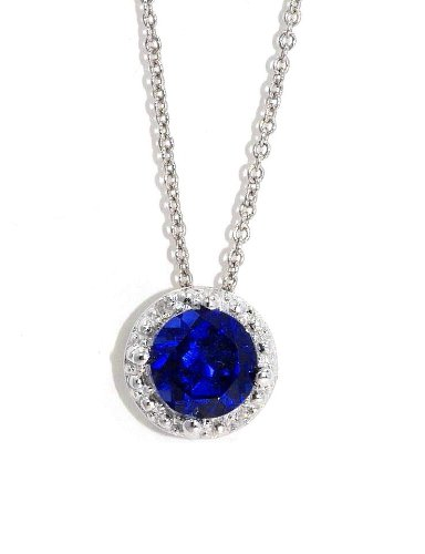 1-Ct-Created-Blue-Sapphire-Diamond-Round-Pendant-925-Sterling-Silver-Rhodium-Finish