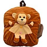 Vpra Enterprises Brown Monkey Soft Toy School Bag For Kids, Travelling Bag, Carry Bag, Picnic Bag, Teddy Bag (Brown)