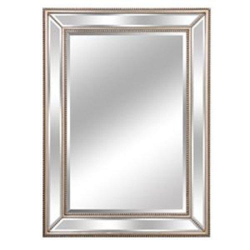 Lofty Lj017S1 / Mercer Diamond Silver Wood Framed Mirror 32X44
