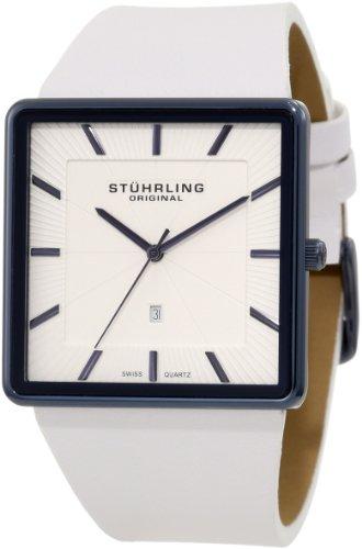 Stuhrling Original Men'S 342W.33Xp2 Classic Ascot Saratoga Swiss Quartz Ultra Slim Date Blue Case Watch