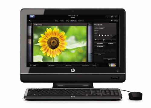 HP 100-5155 20-Inch All-in-One Desktop Computer - Piano Black