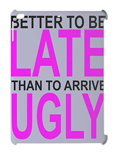 better-to-be-late-slogan-ipad-air-plastic-case
