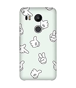 Hands Back Cover Case for LG Nexus 5X